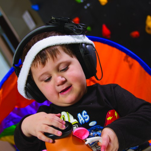 Pediatric Therapy Center's therapeutic listening program is part of it occupational therapy & sensory integration therapy to help a child further develop sensory motor skills.