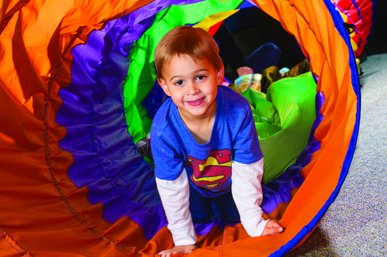 Pediatric Therapy Center's occupational therapy program includes sensory integration therapy to help a child further develop sensory motor skills.