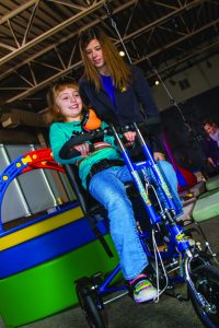 Pediatric Therapy Center utilizes adaptive bikes in its physical therapy program to help children with special needs have a sense of their own freedom, pride and self-assurance that they do not experience in other ways.