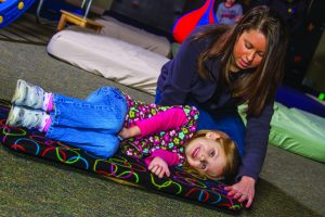 Pediatric Therapy Center provides Astronaut Training through its occupational and sensory integration therapy programs. For children that experience dizziness Astronaut Training provides precise input to all five vestibular receptors, along with auditory and visual