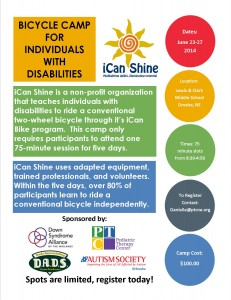 iCan Shine Bike Camp Marketing Flyer