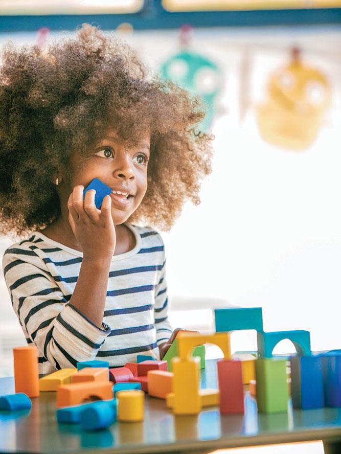 Little Girl with blocks